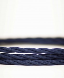 Retro kabel Twisted Deep Ocean Blue