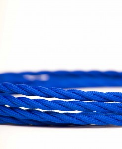 Retro kabel Twisted Navy Blue