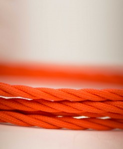 Retro kabel Twisted Orange