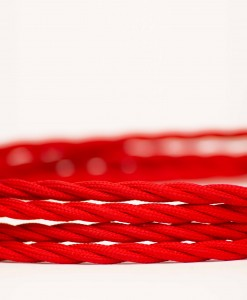 Retro kabel Twisted Red