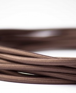 Retro kabel Coffee brown