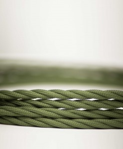 Retro kabel Twisted Army Green