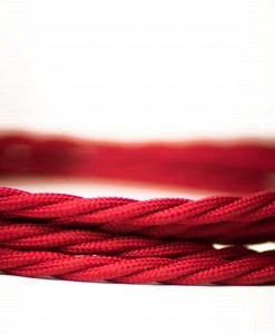Retro kabel Twisted Burgundy red