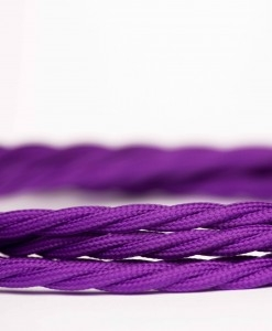 Retro kabel Twisted Purple