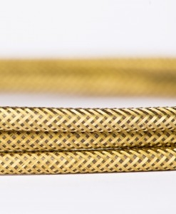Retro kabel Metallic Gold